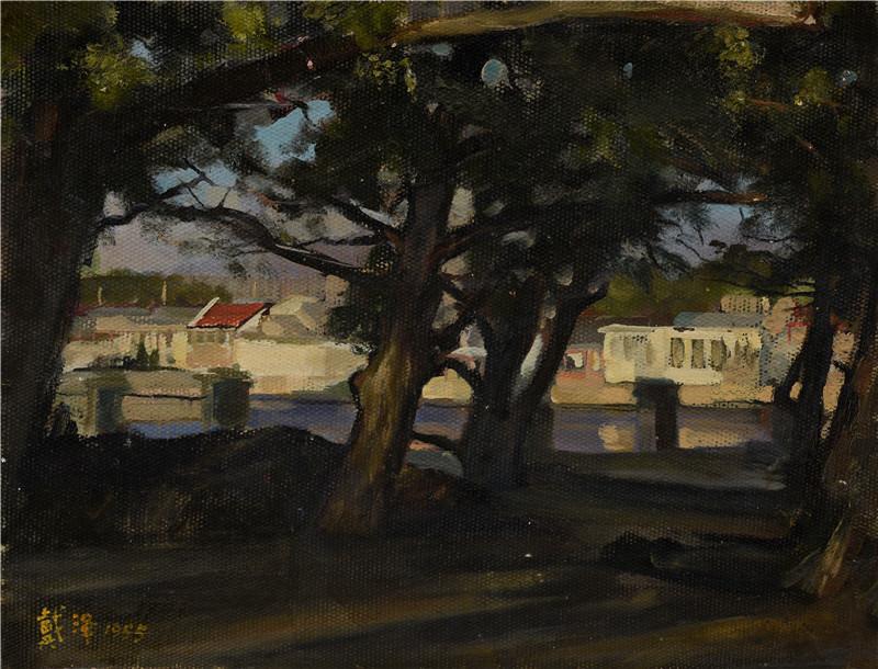 后海边  纸本油画  42x32cm  1955  艺术家自藏.jpg