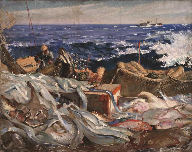 渔船  布面油彩  74x93cm  1961  中央美术学院美术馆藏.jpg