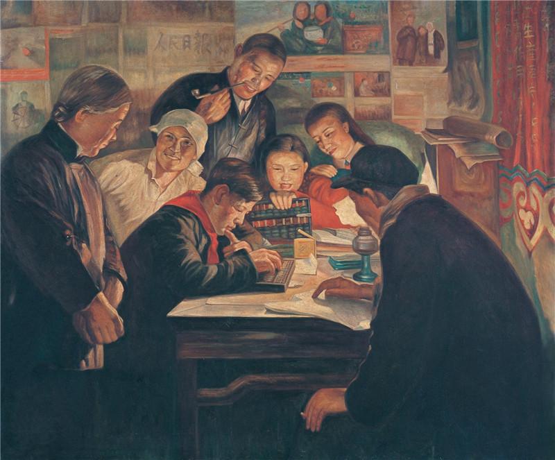 小会计 布面油画 100x120cm  1955  上海龙美术馆藏.jpg