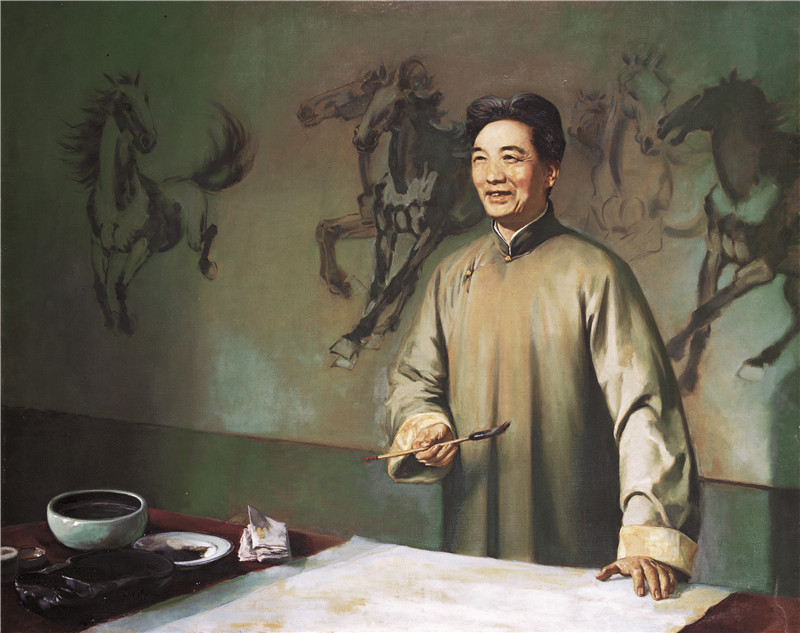 画家徐悲鸿  木板油画  121x152cm  1978  艺术家自藏.jpg