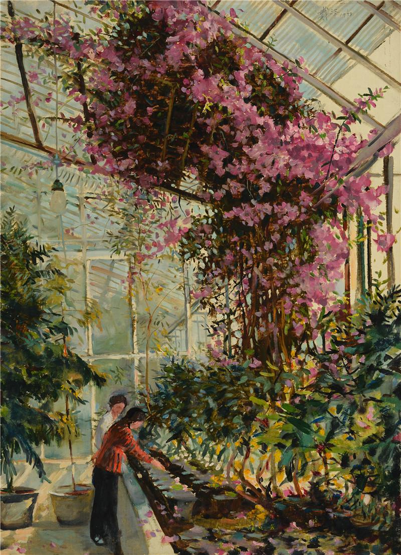 花房  纸本油画  39.5x54.5cm  1978  艺术家自藏.jpg
