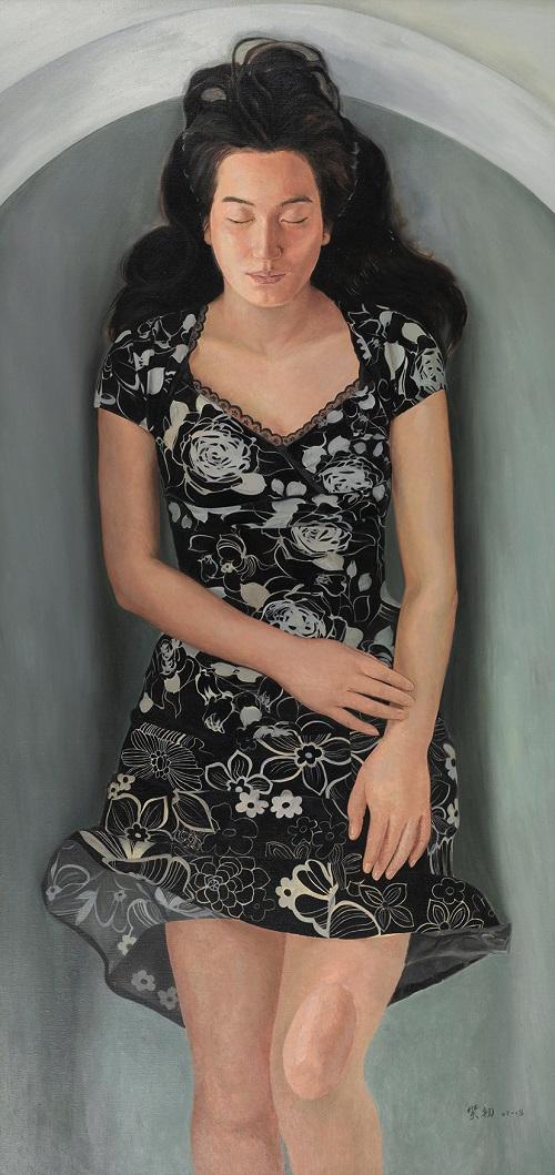 林笑初,《漂浮的想像》布面油画180cmX86cm2013年,林笑初.jpg