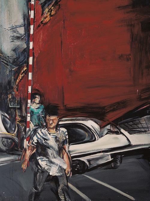 孟禄丁,红墙,115x85cm,布面油画,1986 .jpg