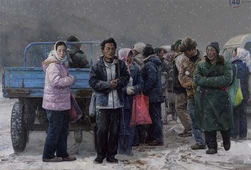 王少伦,《出路》200x300cm,布面油画,2011.jpg