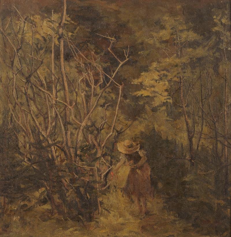 李瑞年 采花人 1945年 油画 65×67cm.jpg