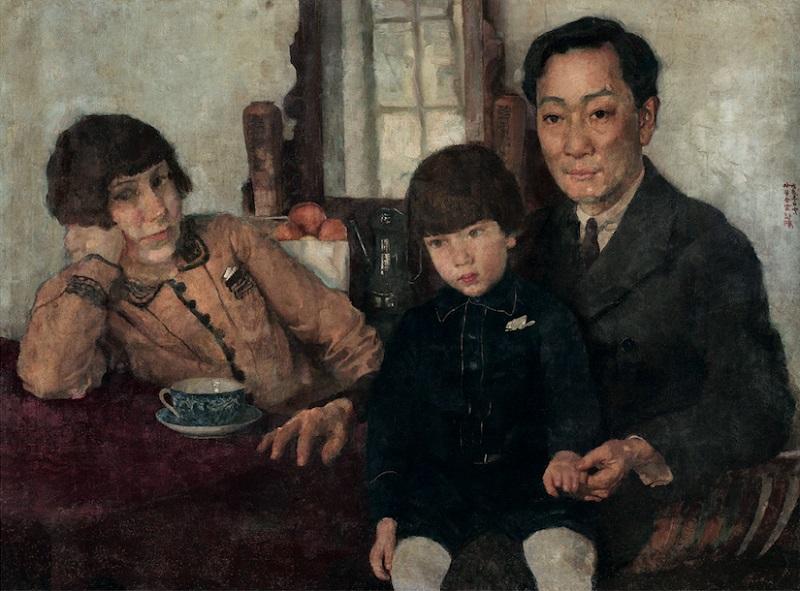 徐悲鸿 杨仲子全家福 布面油彩 59.5x79.5cm 1928年.jpg