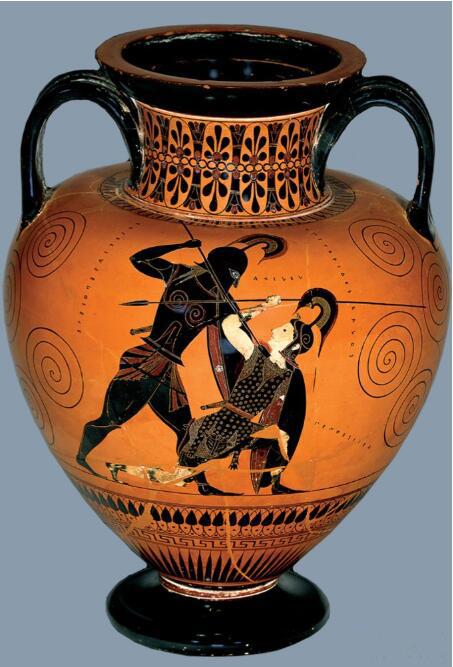 黑绘艺术家埃克塞吉亚斯·阿客琉斯与彭特西勒亚 公元前540年.jpg