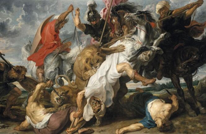鲁本斯《猎狮图》 1617年.jpg