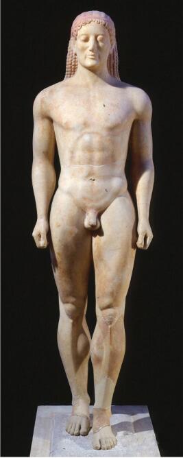 脸上出现微笑的希腊雕塑 公元前530年.jpg