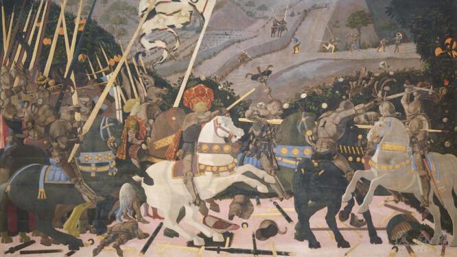 乌切诺《圣罗马诺之战》 1455年.jpg