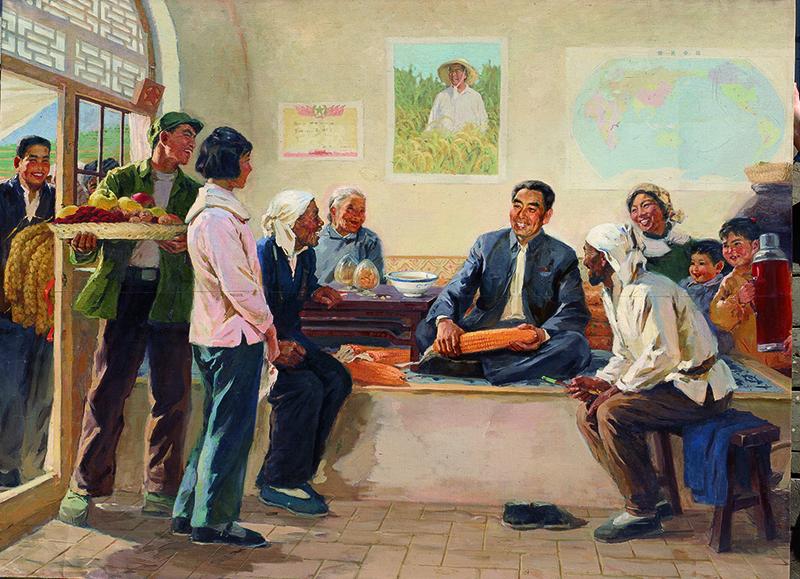 1976 林岗,厐壔,苏高礼《周总理是咱贴心人》油画154.5 x 220cm 1976年 私人收藏.jpg